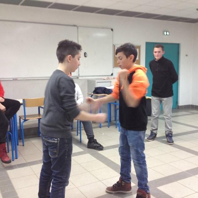 Le théâtre de La Mouche à St Genis Laval a accueilli nos élèves de 4ème.